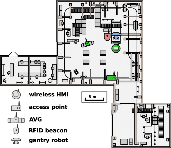 Floor plan of the Experimental and Digital Factory (EDF