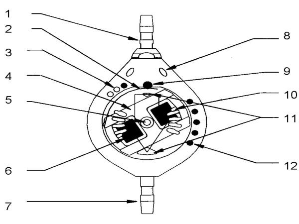 Schematic diagram of construction of Sophysa Polaris Valve
