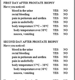 questionnaire complications after a prostate biopsy  [ 672 x 1207 Pixel ]