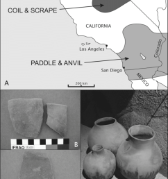 late prehistoric plainware ceramics and their distribution in southern california a the approximate geographic [ 850 x 1213 Pixel ]