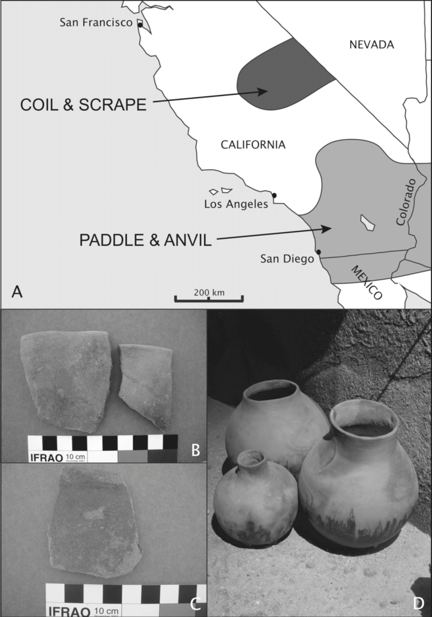 medium resolution of late prehistoric plainware ceramics and their distribution in southern california a the approximate geographic