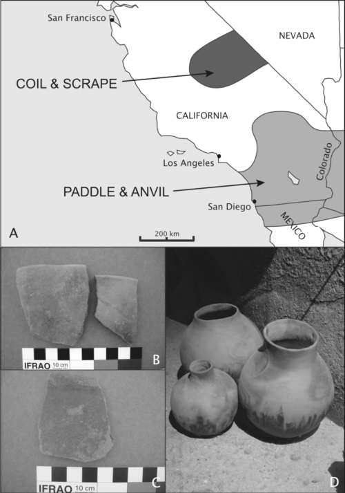 small resolution of late prehistoric plainware ceramics and their distribution in southern california a the approximate geographic