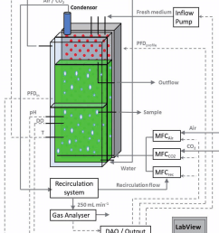 1 schematic view of the flat panel photobioreactor configuration temperature ph and light [ 850 x 1133 Pixel ]