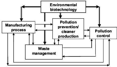 Key intervention points of environmental biotechnology