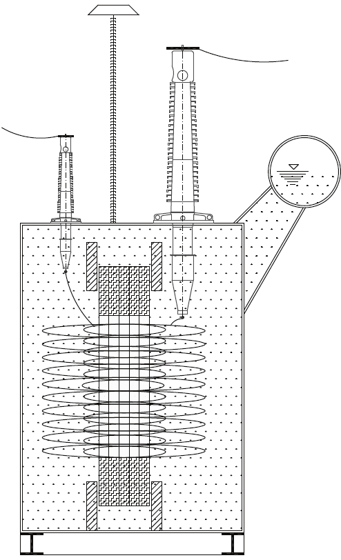 Simplified Cross Section of Typical High Voltage Power