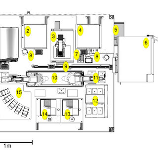Plan diagram of Eve's laboratory robotic system. Layout