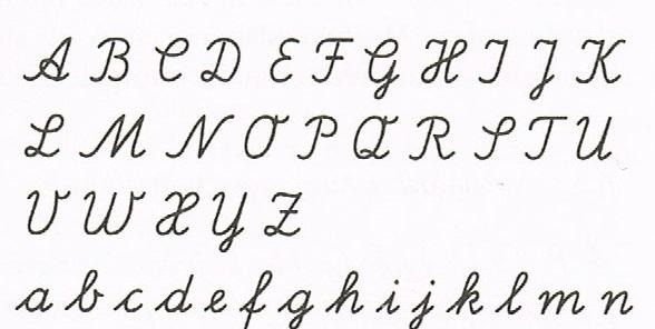 Lateinische Ausgangsschrift, a handwriting alphabet