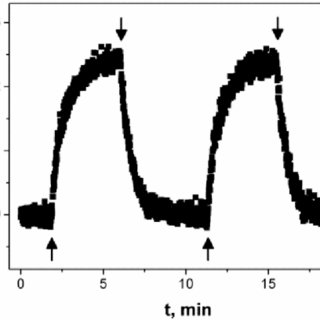 Photoconductivity current responses on switching on