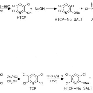 Chemical reactions involved in preparation of CPP by two