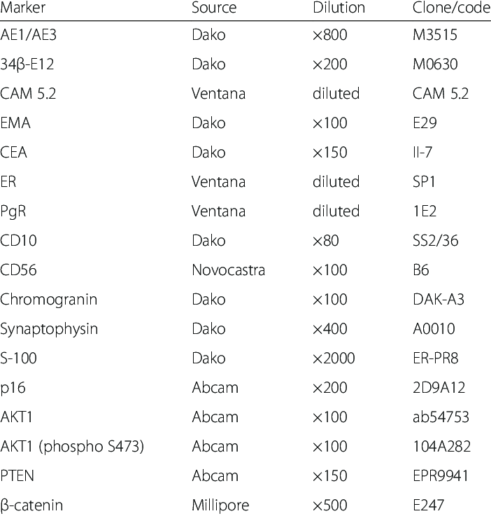 Primary antibodies used in this study   Download Table