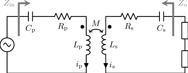 Equivalent circuit model of a series-series tuned WPT