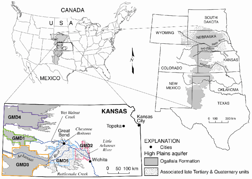 Extent of the High Plains aquifer and Kansas Groundwater