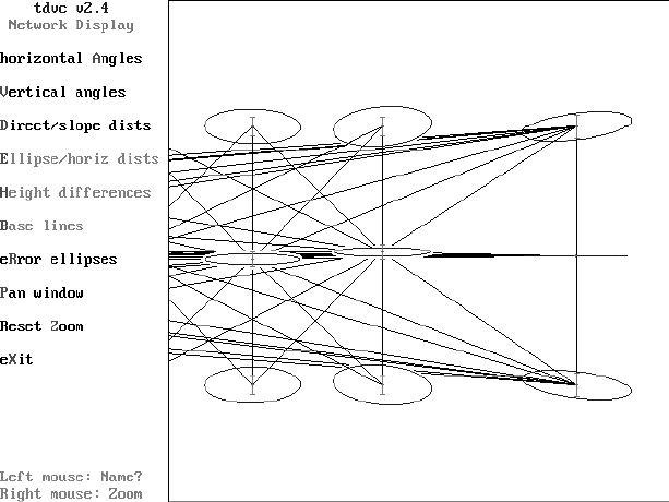 Network simulation diagram of a small section of the