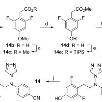 Scheme 5. Synthesis of compound 20, 21 and 22. Reagents