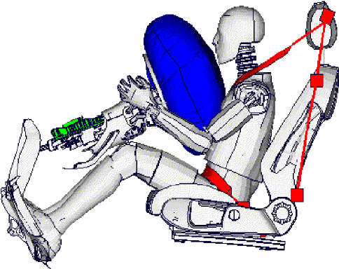steering wheel diagram 6 way trailer light wiring restraint system with adaptive components for airbag and seat belt