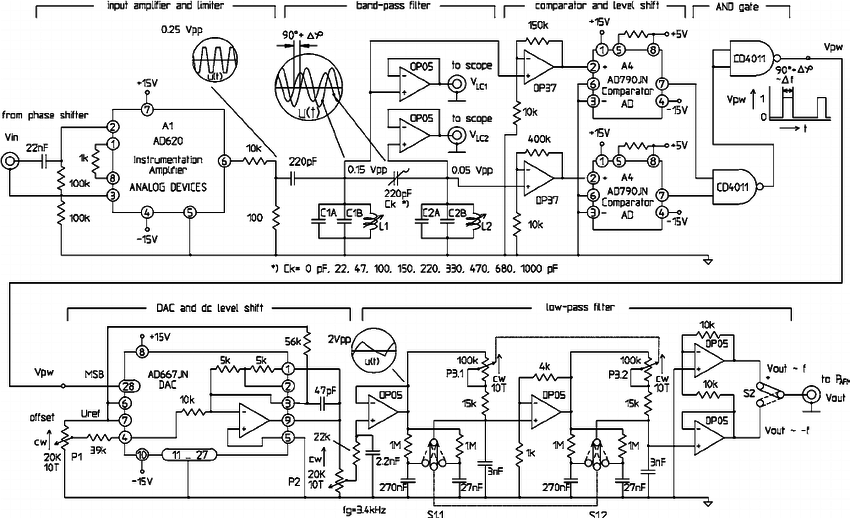 FM detector circuit. The input voltage drives the