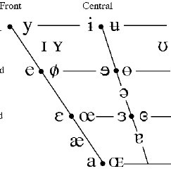 Vowel chart of the International Phonetic Alphabet