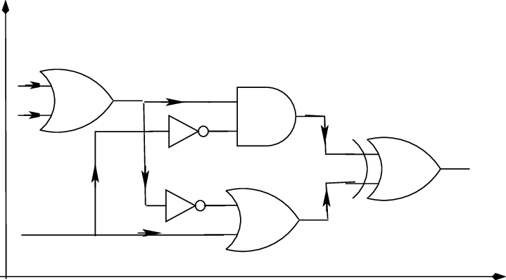 11: Space-time representation of a classical logic circuit