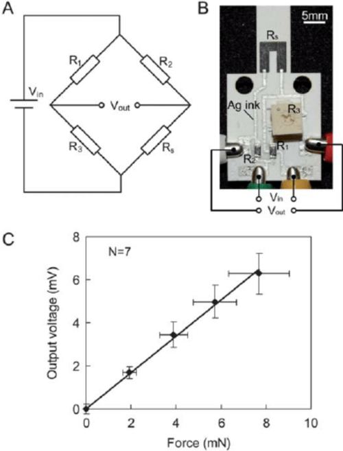 small resolution of monolithic integration of a wheatstone bridge circuit with the paper based sensor a