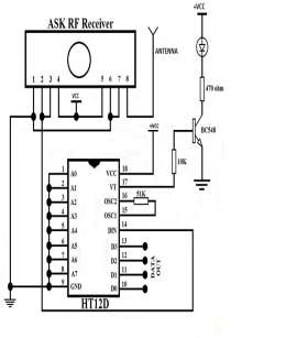 Fig 7 RF Receiver using ASK (Source: www.electrosome.com