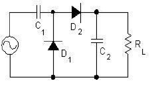 Voltage Doubler It is the union between a clamping circuit