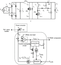 single phase module schematic and feedback current averaging block diagram of the proposed pfc converter [ 850 x 955 Pixel ]