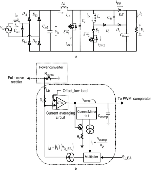 small resolution of single phase module schematic and feedback current averaging block diagram of the proposed pfc converter