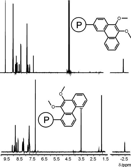 Proton NMR spectra of the isomeric porphyrin