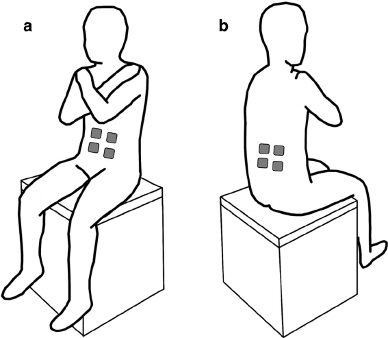 balance posture chair stadium chairs at walmart experimental setup showing participant s on a without back support during sitting assessments the force plate was positioned