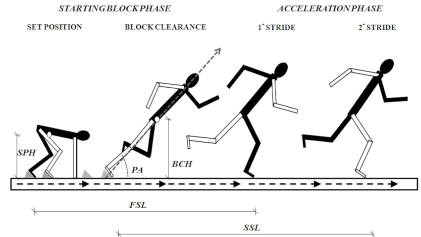 GRAPHIC REPRESENTATION ON SAGITTAL PLANE OF THE STARTING
