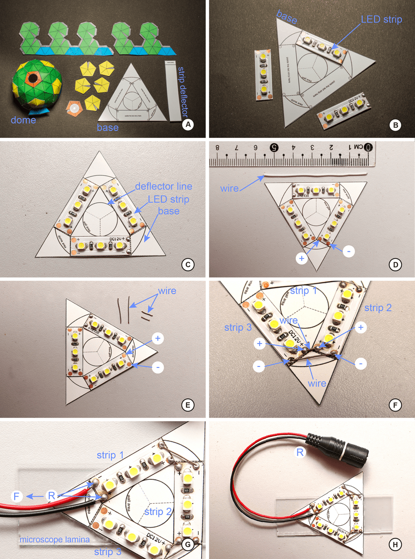 hight resolution of step by step of construction of the mini ring part 1