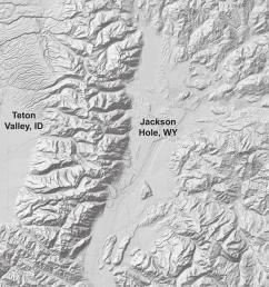 the teton range separated by jackson hole wyoming and teton valley idaho dem [ 850 x 1134 Pixel ]