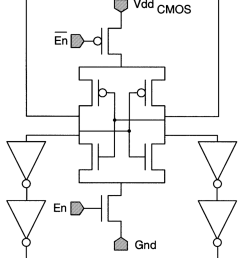 standard cmos circuits used for the cmos interface a level shifters driving the [ 850 x 1201 Pixel ]