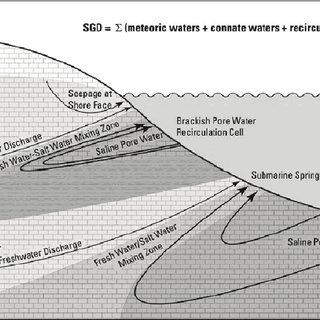 ocean floor profile diagram 97 cherokee radio wiring schematic showing various components of submarine groundwater discharge... | download scientific ...