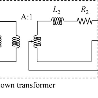 Electrical equivalent circuit of an MFDC single phase