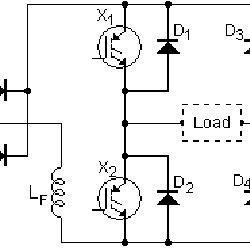 Simplified circuit of the Full-Bridge output Inverter