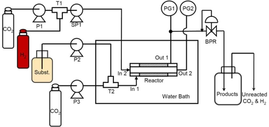 Schematic diagram of the catalytic membrane reactor. SP1