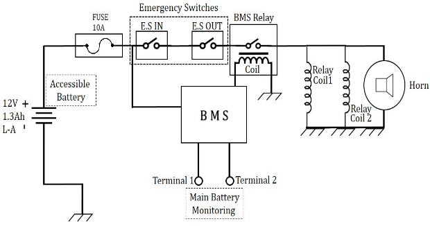 a main electrical circuit diagram of the car b auxiliary