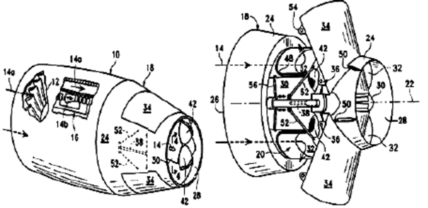 Isometric view of an exemplary turbofan gas turbine