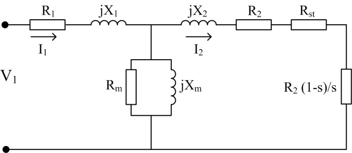 Steady-state equivalent circuit of induction motor