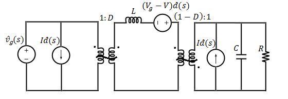 Small-signal equivalent circuit of buck-boost converter
