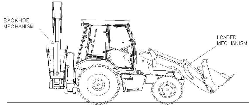 HMK 102 B Energy Series Backhoe Loader General View