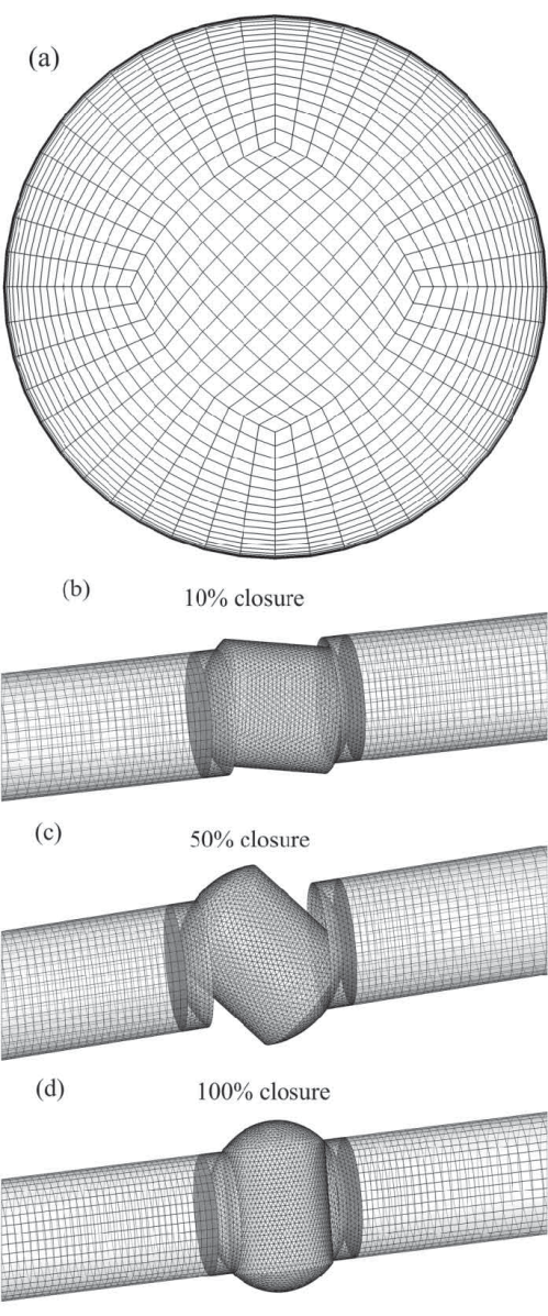 small resolution of pipe geometry a pipe cross section mesh in 3d ball valve