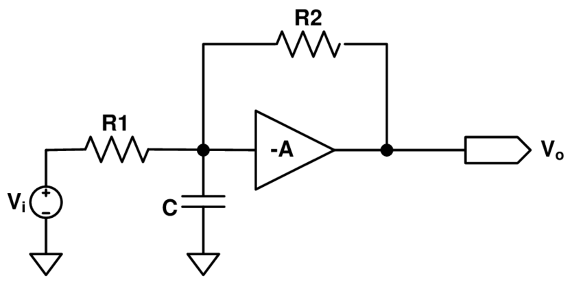 Equivalent small-signal circuit diagram of logic function