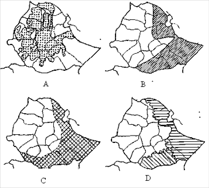 4: Map of Ethiopia showing the peripheral lawlands ( a
