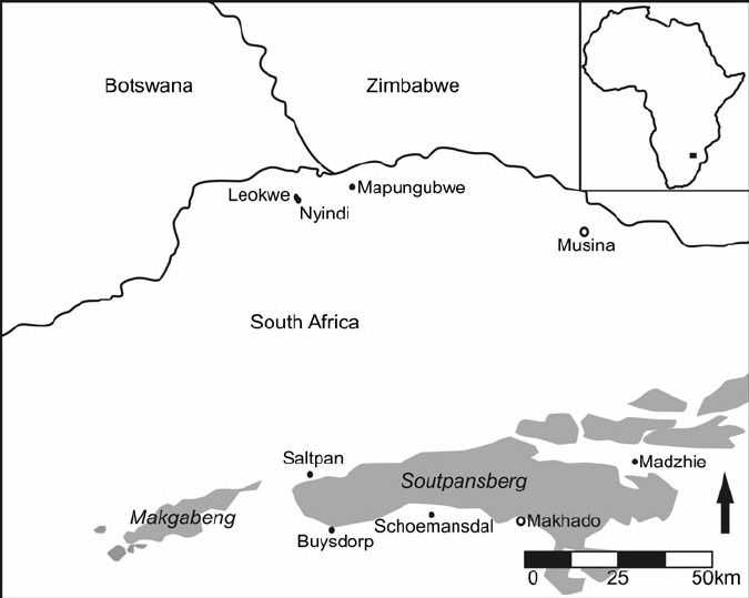 Map of the Shashe-Limpopo Confluence Area and surrounding