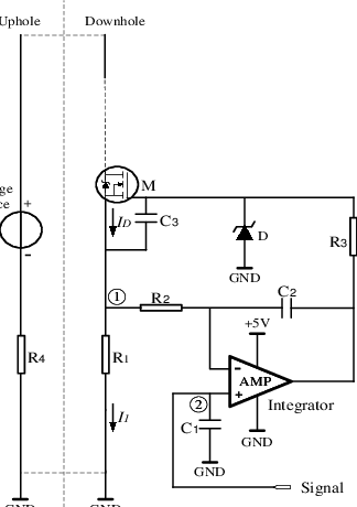 the circuit of the current loop data transmission