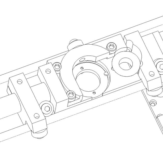Shown is one of six identical actuator assemblies. The