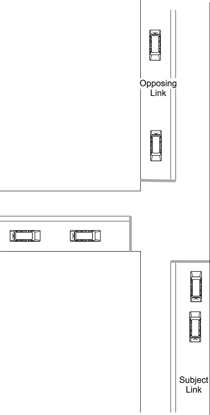 hight resolution of layout of typical t intersection