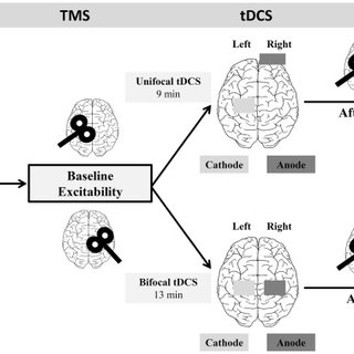 Absolute change of MEP size pre-and post-tDCS. (A) Healthy